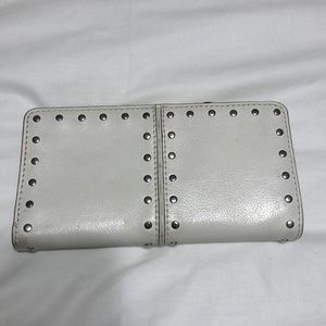 Michael kors Studded leather wallet- vanilla white